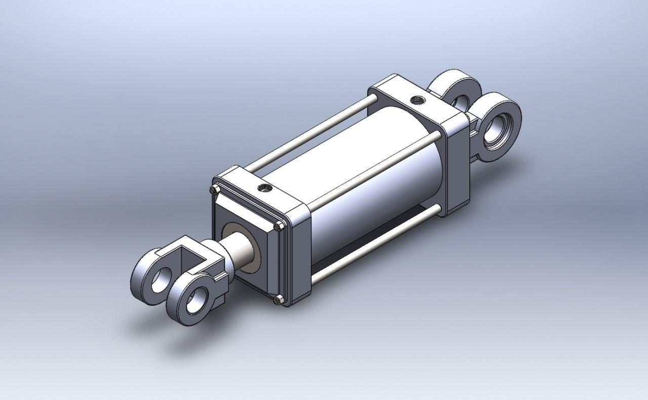 طراحی یک سیلندر هیدرولیک در سالیدورک