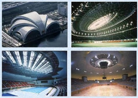 پاورپوینت بررسی فناوریهای نوین و کاربرد سازه های فضاکار در طراحی و اجرای فضاهای ورزشی
