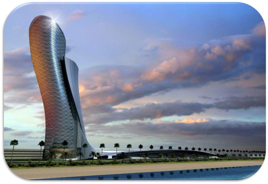 پاورپوینت بررسی برج capital gate دبی،خمیده ترین برج دنیا