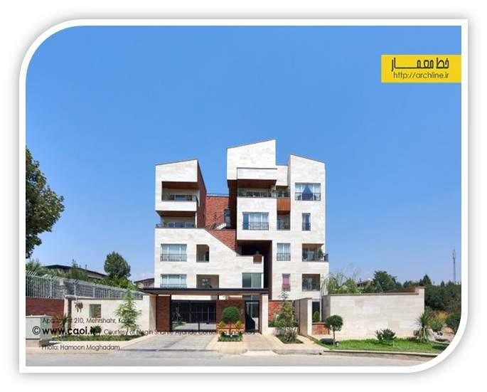 دانلود پاورپوینت بررسی معماری آپارتمان مسکونی ۲۱۰، مهرشهر کرج (نمونه مشابه مسکونی)